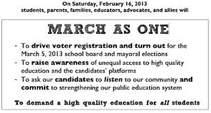 March as one